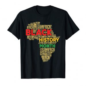 Cool Black History Month Africa Map T-Shirt