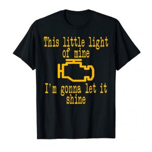 Buy CEL Check Engine Light Funny Car Racing Mechanic T-Shirt