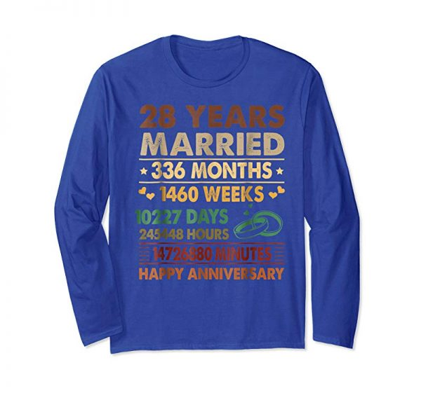Get 28th Wedding Anniversary Gifts Tshirt 336 Months Decorations
