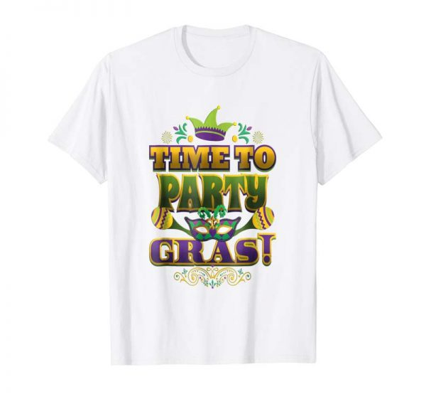 Buy Mardi Gras TShirt Time To Party Gras Matching Tee