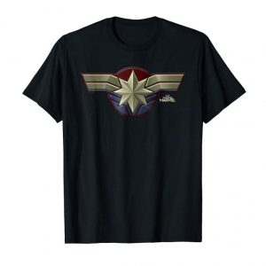 Trending Marvel Captain Marvel Movie Chest Symbol Graphic T-Shirt