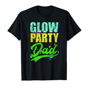 Order Now Glow Party Dad Retro Neon Father Daddy Distressed T-Shirt
