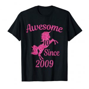 Buy Now Kids Unicorns 10th Birthday Girl Awesome Since 2009 10 T-shirts