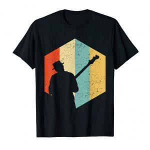 Buy Bass Player Retro Distressed Tshirt - Bass Guitar Tee Shirts