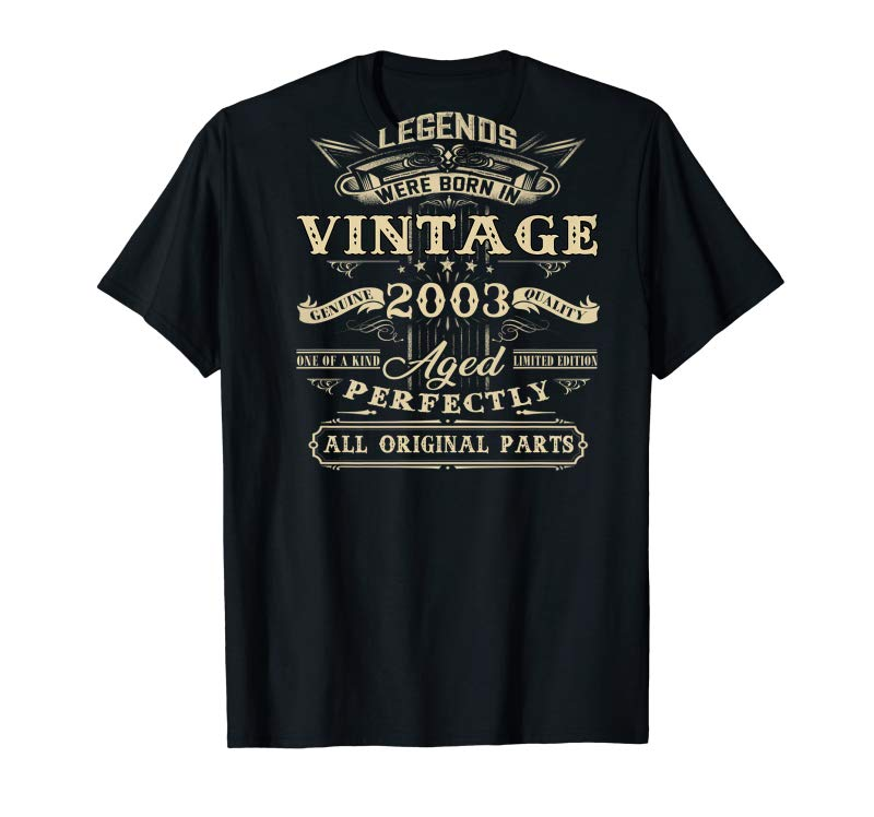 Order Now Vintage Legend Born In 2003 16th Years Old 16 Birthday Shirt