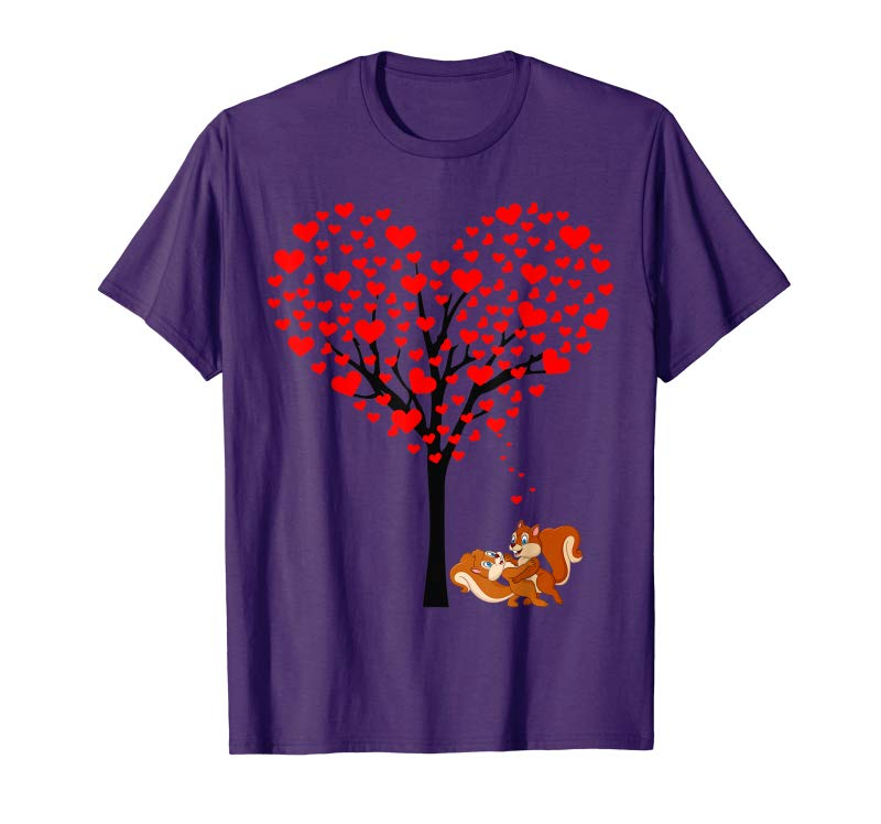 Get Heart Tree Cute Squirrel Couple Valentines Day Tshirt Gifts Tees Design