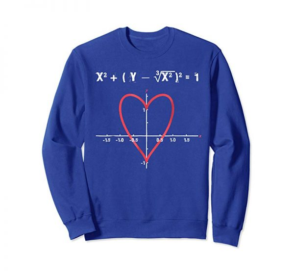Trending Love Heart Equation Math Graphic Funny Valentine Gift