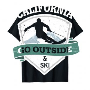 Buy Now Go Outside And Ski California Vintage Distressed T Shirt