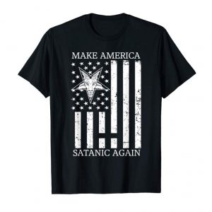Buy Make Satanic Great Again T-Shirt Funny Gift