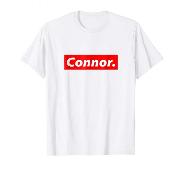 Cool Connor Shirt - Red Box Logo Personalized Name Clout Gift
