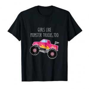 Order Now Girly Monster Truck RC Car Mom Daughter Matching Gift Shirt
