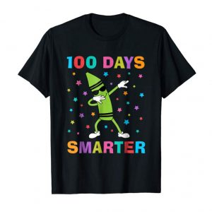 Get Now 100 Days Smarter 100th Day Of School Dabbing Crayon T-Shirt