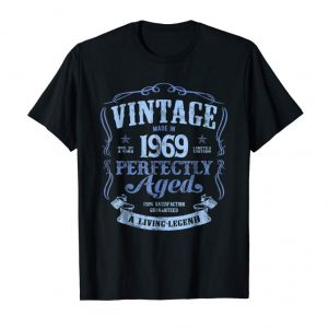 Buy Now Made In 1969 T-Shirt 50th Birthday Vintage Living Legend