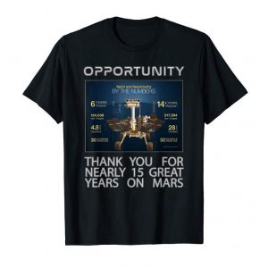 Buy Now Opportunity Mars Rover By The Numbers T-Shirt