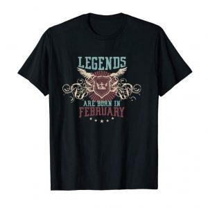 Cool Legends Are Born In February Shirt - Pullover Hoodie