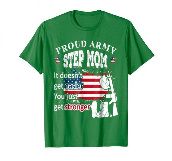 Get Now Proud Army Step Mom T-Shirt