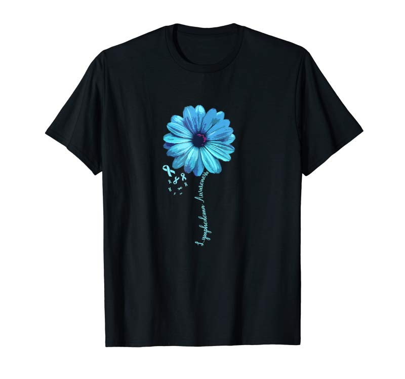 Buy Now Lymphedema Awareness T-Shirt Floral Ribbon Support Gift