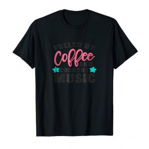 Cool Funny Coffee Gift T-Shirt Fueled By Country Music