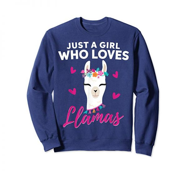 Order Now Just A Girl Who Loves Llamas T Shirt Heart Love Gift