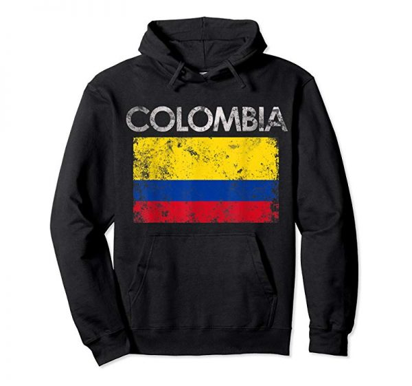 Buy Now Vintage Colombia Colombian Flag Pride Gift T-Shirt