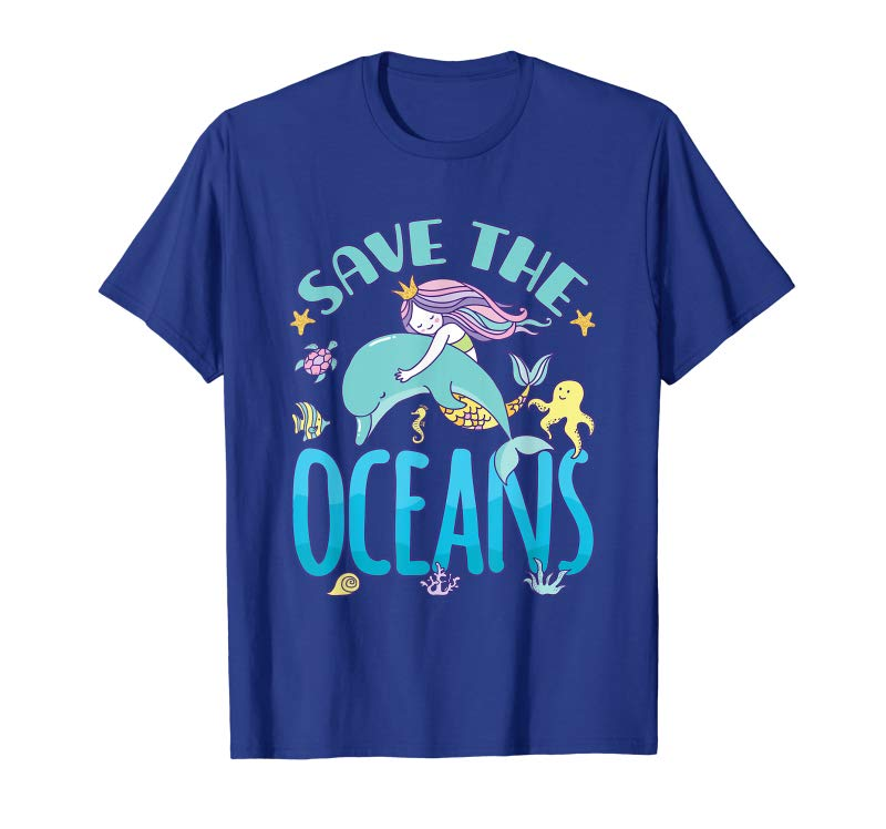 Dolphins and Mermaid  Ocean Friends  Tshirt   Sizes//Colors
