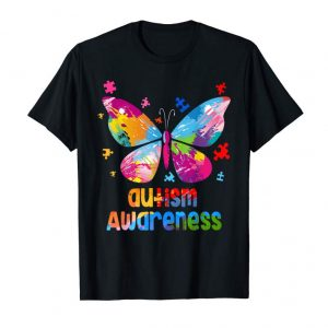 Order Now Autism Awareness TShirt Gift Colorful Butterfly Autism