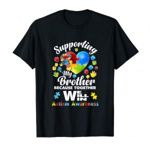 Trending Supporting My Brother Puzzle Autism Awareness Month Shirt