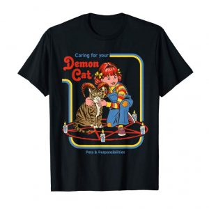 Order Now Vintage-Caring-for-your-Demon-Cat-shirt Pet Cat