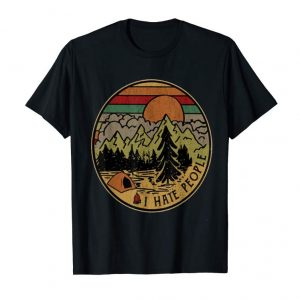 Trends I Love Camping I Hate People T-Shirt Outdoors Funny Vintage
