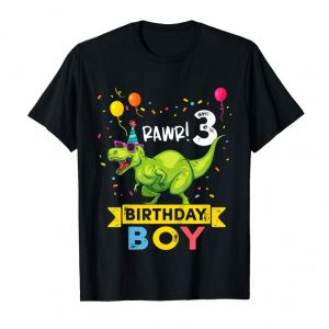 Buy Kids 3 Year Old Shirt 3rd Birthday Boy T Rex Dinosaur T Shirt