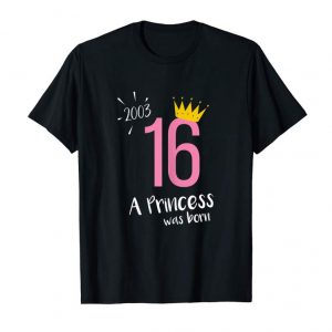 Get Womens Women 16th Birthday Girls Party Crown 2003 Sweet Teen Tshirt