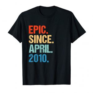 Trending Kids Born In April 2010 9th Birthday Gift T Shirt 9 Yrs Old