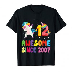 Order Dabbing Awesome Since 2007 12th Birthday Gift Unicorn Shirt