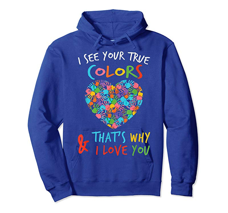 Together Love Support Autism Awareness Hand Womens Black Hoodie