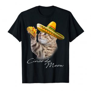 Buy Cinco De Meow Funny Taco Cat Shirt Cinco De Mayo T-shirt