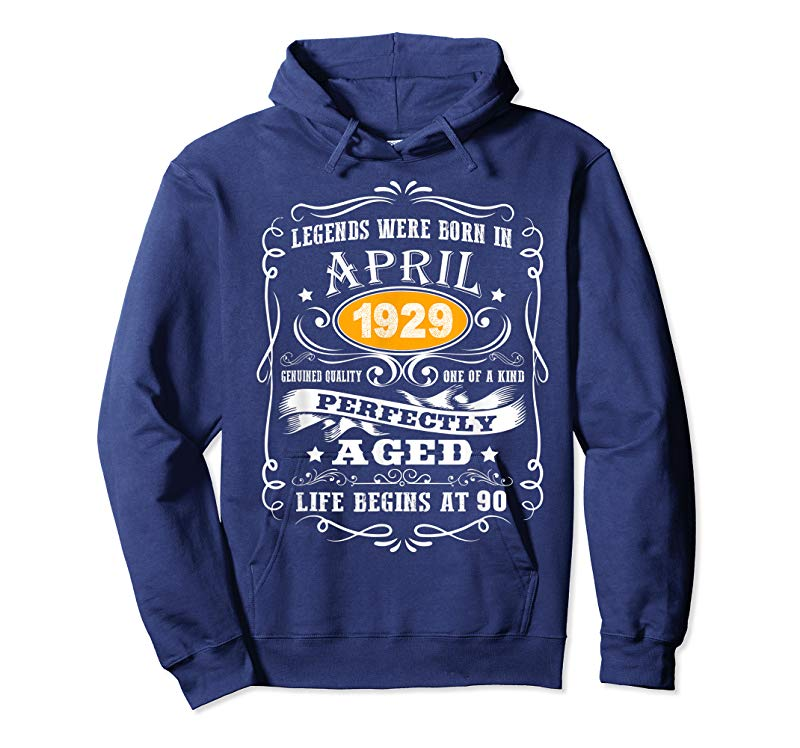 Cool April 1929 90th Birthday Gift 90 Year Old Men Women T Shirt