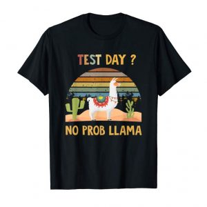 Buy Test Day Llama Teacher Exam Testing Vintage Retro T-shirt