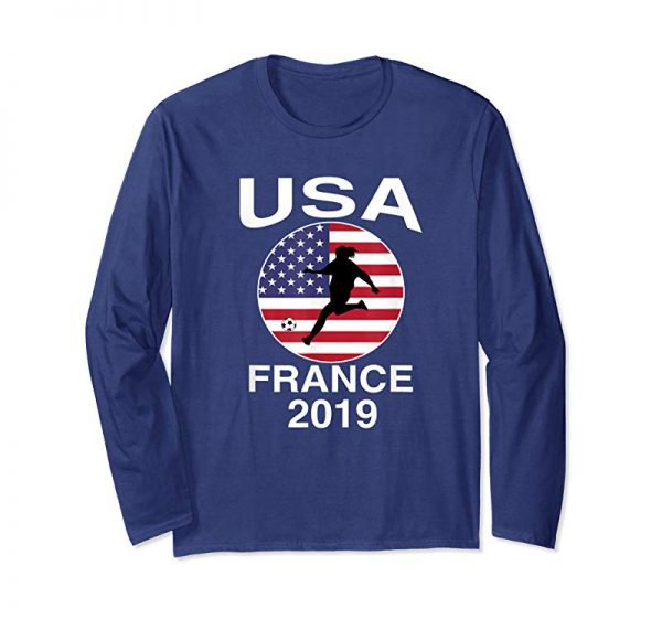Trends USA United States Women 2019 T Shirt Soccer Football Flag