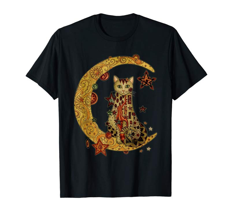 Buy Now MIAPRINTSPRO Cat On The Moon Shirt For Women Girl