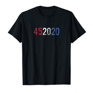Buy Now Trump 45 In 2020 Re-Election T-Shirt With Distressed Font