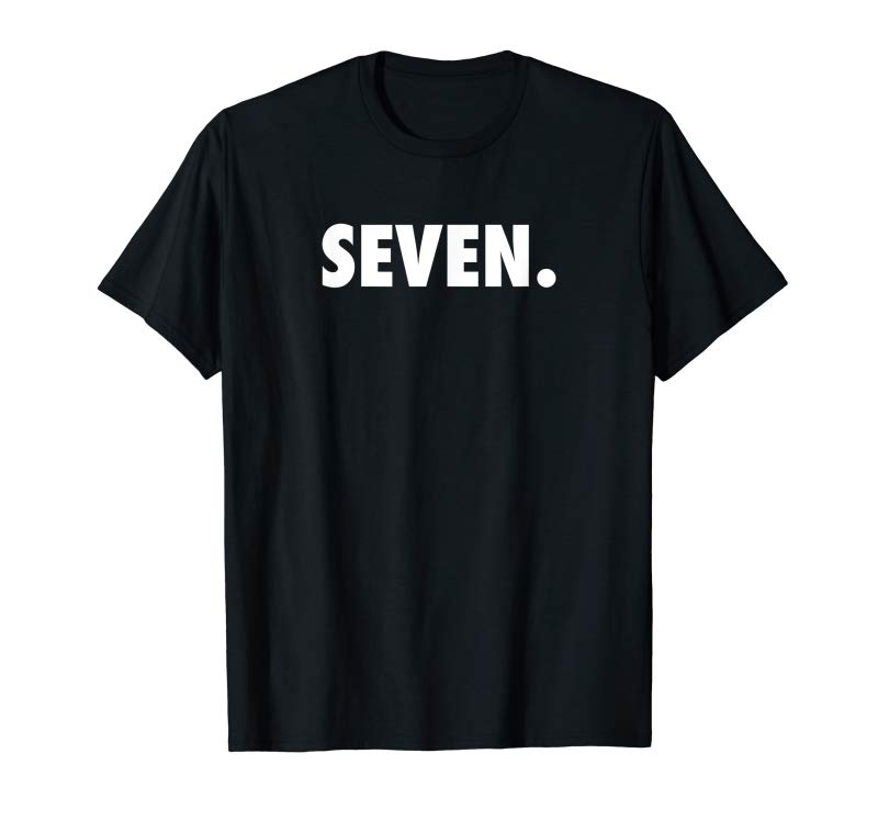 f7f6c2df6 Get Now Seven Kids 7th Birthday Shirt For Boys & Girls Party Tee ...