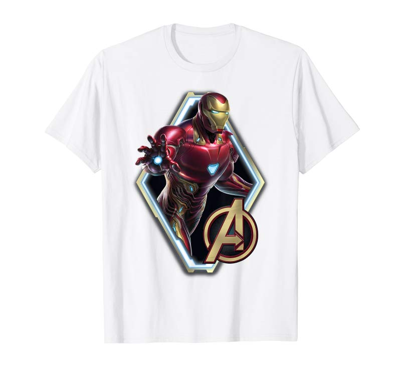 Buy Now Marvel Avengers Endgame Iron Man Logo Graphic T Shirt Tees Design