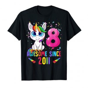 Buy 8 Years Old 8th Birthday Unicorn Shirt Girl Gift Gift