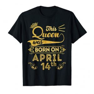 Order Queen Are Born In April 2005 14th Birthday Shirt Girls