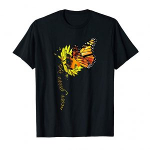 Cool Never Give Up MS Awareness Sunflower Butterfly T Shirt