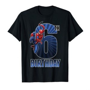 Buy Now Marvel Spider-Man Swinging 6th Birthday Graphic T-Shirt