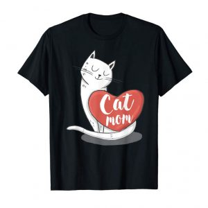 Buy Cat Shirts For Women Girls Cat Mom Heart Crazy Cat Lady Tee