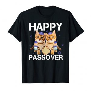 Buy Pesach Hebrew Cat Tee Happy Jewish Passover T-shirt Gifts