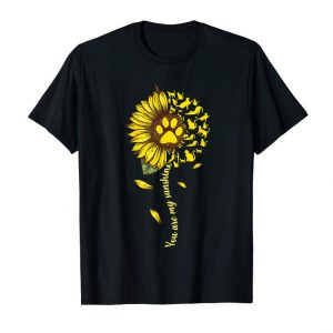 Trends You Are My Sunshine Cat Lovers Sunflower Back Side T-shirt