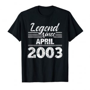 Buy Now 16th Birthday Gift Legend Since April 2003 T-Shirt